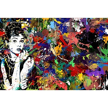 Maxwell Dickson ''Audrey Hepburn'' Painting Print on Canvas; 18'' H x 24'' W