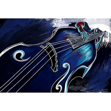 Maxwell Dickson ''Bass Player'' Graphic Art on Canvas; 18'' H x 24'' W