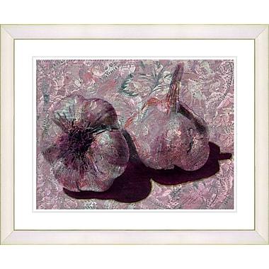 Studio Works Modern ''Garlic - Red'' by Zhee Singer Framed Graphic Art in Red; Creamy White