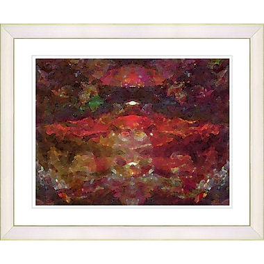 Studio Works Modern ''Voice in Red'' by Zhee Singer Framed Graphic Art in Red; Creamy White