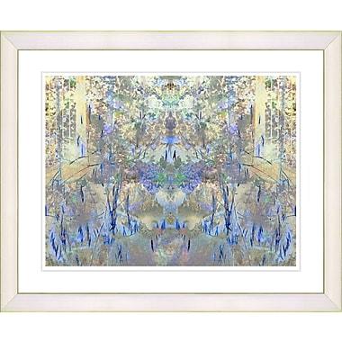 Studio Works Modern ''Summer Land - Blue'' by Zhee Singer Framed Graphic Art in Blue; Creamy White