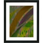 Studio Works Modern ''Cinnabar - Olive'' by Zhee Singer Framed Graphic Art in Green; Satin Black