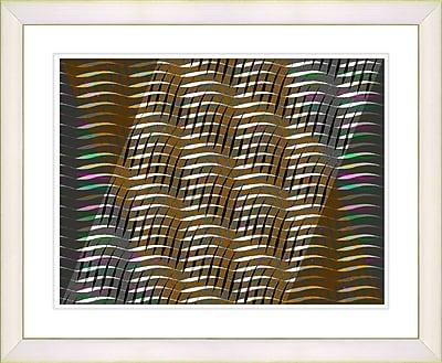 Studio Works Modern ''Placidus - Orange'' by Zhee Singer Framed Painting Print; Creamy White