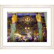 Studio Works Modern ''Carousel'' by Mia Singer Framed Painting Print; Creamy White