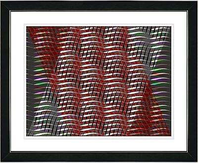 Studio Works Modern ''Placidus - Red'' by Zhee Singer Framed Painting Print; Satin Black