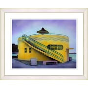 Studio Works Modern ''Yellow Beach House'' by Mia Singer Framed Painting Print; Creamy White