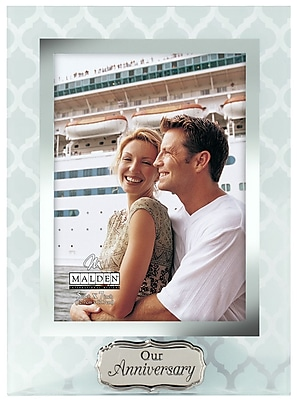Malden 5'' x 7'' Our Anniversary Glass Picture Frame