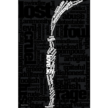 Maxwell Dickson ''Refilled'' Textual Art on Canvas; 60'' H x 40'' W