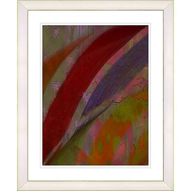 Studio Works Modern ''Cinnabar - Red'' by Zhee Singer Framed Graphic Art in Red; Creamy White