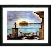 Studio Works Modern ''Malibu Pier'' by Mia Singer Framed Painting Print; Satin Black