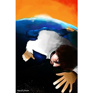 Maxwell Dickson ''Earth Guy'' Graphic Art on Wrapped Canvas; 18'' H x 24'' W