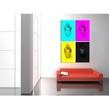 Maxwell Dickson ''CMYK'' 4 Piece Graphic Art on Canvas Set; 48'' H x 36'' W