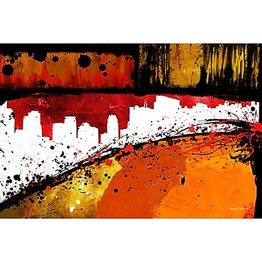 Maxwell Dickson ''Streets of Gold'' Painting Print on Canvas; 20'' H x 30'' W
