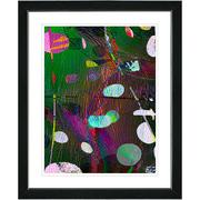 Studio Works Modern ''Dark Plyos - Green'' by Zhee Singer Framed Painting Print; Satin Black