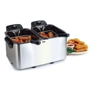 Elite by Maxi-Matic Platinum 2.83 Liter Stainless Steel Dual Deep Fryer
