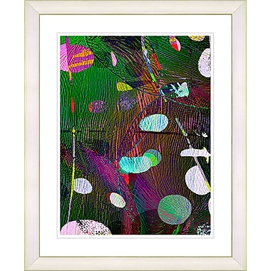 Studio Works Modern ''Dark Plyos - Green'' by Zhee Singer Framed Painting Print; Creamy White
