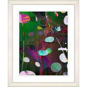 Studio Works Modern ''Dark Plyos - Green'' by Zhee Singer Framed Painting Print; Creamy White