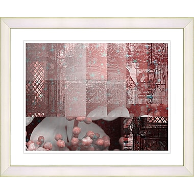 Studio Works Modern ''Urban Puzzle - Red'' by Zhee Singer Framed Painting Print; Creamy White