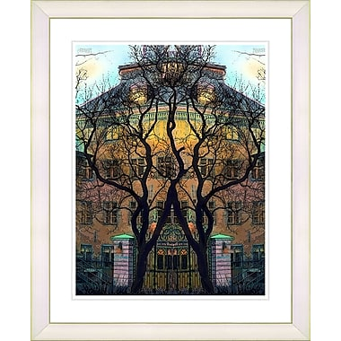 Studio Works Modern ''Townhouse'' by Mia Singer Framed Painting Print; Creamy White