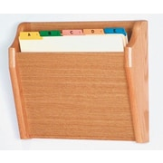 Wooden Mallet Single Tapered Pocket Chart Holder; Light Oak