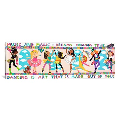 iCanvas Kids Children 'Dancing is Art' Graphic Canvas Wall Art; 20'' H x 60'' W x 1.5'' D