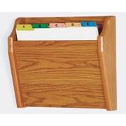Wooden Mallet Single Tapered Pocket Chart Holder; Medium Oak