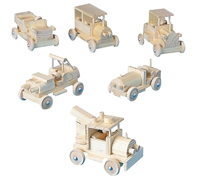 S&S® Unfinished Classic Cars Of Yesteryear, 6/Pack
