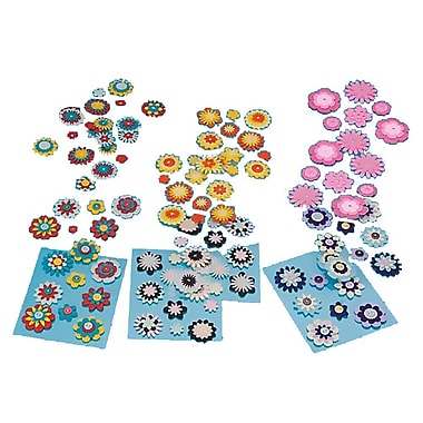 S&S DC417 Peel-Off Self-Adhesive Backs Multicolor Felt Button Stickers, 2
