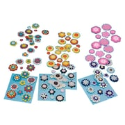 "S&S DC417 Peel-Off Self-Adhesive Backs Multicolor Felt Button Stickers, 2"", 12/Pack"