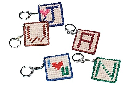S&S® Allen Diagnostic Module Needlepoint Initial Key Ring, 24/Pack