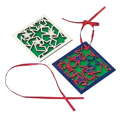 Craft EXpress Stars Wood Coaster Craft Kit, 48/Pack