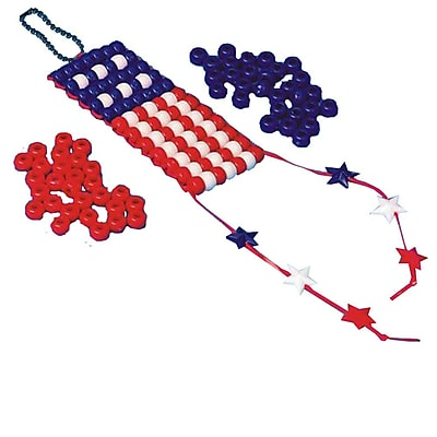 Craft EXpress Beaded American Flag Craft Kit, 12/Pack 13487