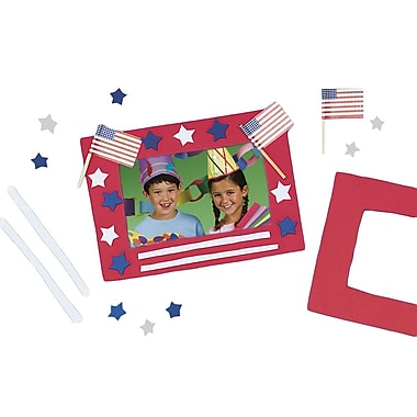 Craft EXpress Stars 'N Stripes Frame Craft Kit, 12/Pack