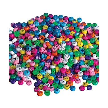 S&S® Pastel Alpha Beads Bag, 600/Bag