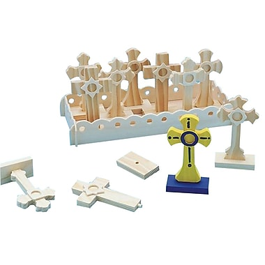 Glory Mountain Unfinished Wooden Cross Set, 12/Set