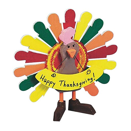S&S® Unfinished Wooden Turkey, 6/Pack