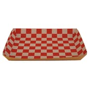 """Southern Champion Tray 10 1/2"""" x 7 1/2"""" x 1 1/2"""" Eco Kraft Paperboard Lunch Tray, Brown/Red/White, 250/Pack"""