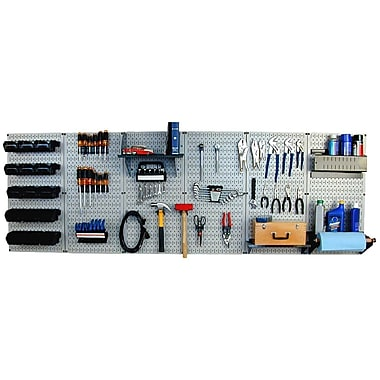 Wall Control 8' Metal Pegboard Master Workbench Kit, Black Tool Board and Black Accessories