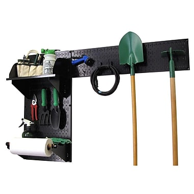 Wall Control Garden Tool Storage Organizer Pegboard Black Tool Board and Accessories Kit
