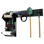 Wall Control Garden Tool Storage Organizer Pegboard Kit, Black Tool Board and Black Accessories
