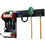 Wall Control Garden Tool Storage Organizer Pegboard Kit, Black Tool Board and Red Accessories