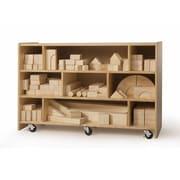 Whitney Brothers Hardwood Intermediate Block Set, 118 Blocks