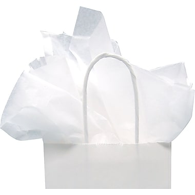 Papier de soie blanc économique, 17 po x 27 po, 1 rame (480 feuilles)