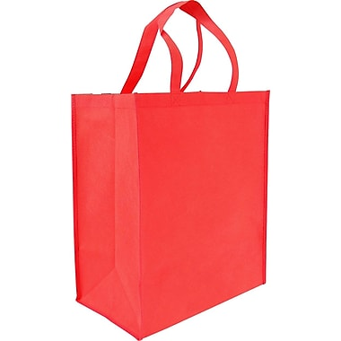 Non-Woven Reusable Bag, Red, 14