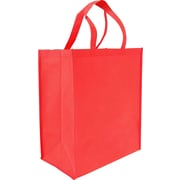 "Non-Woven Reusable Bag, Red, 14"" x 8"" x 16"" x 8"", 100/case"