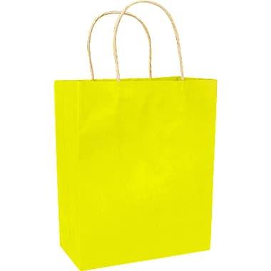 Colour Paper Shopper, Yellow, Prime, 250/case