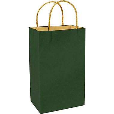 Sac à provisions en papier de couleur, vert forêt, Prime, bte/250