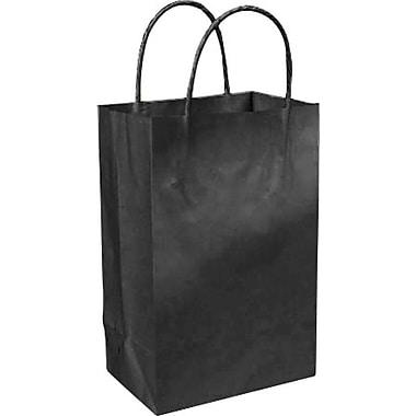 Sac à provisions en papier de couleur, noir, Prime, bte/250