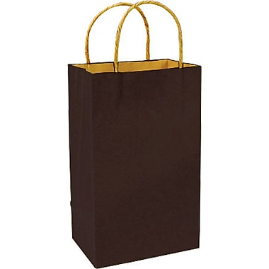 Colour Paper Shopper, Chocolate, Prime, 250/case