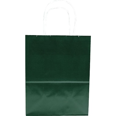 Sac à provisions en papier de couleur, vert forêt, Petite, bte/250